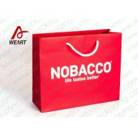 Buy Bright Red Color Personalised Paper Shopping Bags For Business Eco - Friendly at wholesale prices