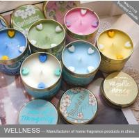 Quality Soy Wax Scented Tin Candles , Handmade Non Toxic Long Lasting Scented Candles for sale