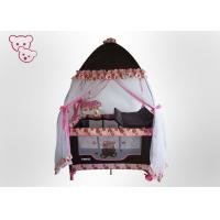 Quality High Mosquito Net Baby Playpen Bed Plastic Travel Crib With Music / Toys for sale