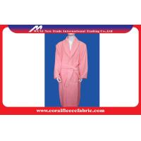 Quality Microfiber Eco-friendly Coral Fleece Luxury Bathrobes , Women or Men Night-robe for sale