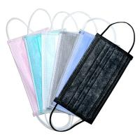 Quality Elastic Ear Loop 3 Ply Disposable Face Mask Fashionable No Irritation for sale
