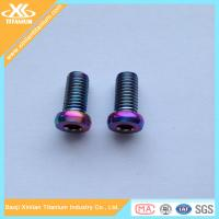 Anodized Colorful Titanium Alloy Hex Socket Pan Head Bolts