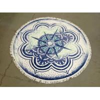 Quality Small MOQ 100% Cotton Cheap Price China Beach Towel Factory  custom beach towel round for sale