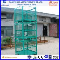 Quality Foldable Stackable Galvanized Steel Wire Mesh Container for Warehouse Storage for sale