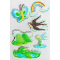 Quality Custom Printed Hologram Stickers , Paper Layered 3d Holographic Stickers Sheets for sale