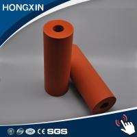 Quality Custom Red Color Aluminum Core Silicone Rubber Coating Rollers for sale