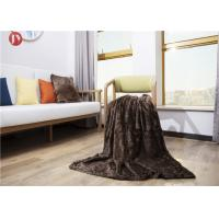 China Classic two-tones Faux Fur Blanket Dark Brown 35mm Pile Height artificial fur throw Customized Logo on sale