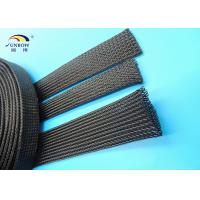 China PET monafilament braided Expandable Sleeving Cable Protection Black Sleeving Automobile on sale