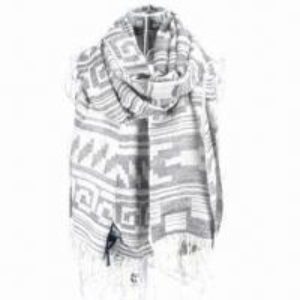Quality 100% acrylic geometric pattern jacquard scarf/shawl for sale