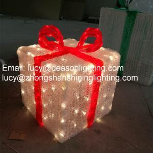 Quality led gift box motif light for sale