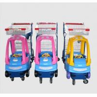 Quality Supermarket Plastic Kids Shopping Trolley Zinc Plated Metal Shopping Cart for sale