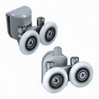 Quality New design glass door/shower room rollers, made of ABS, brass, zinc-alloy and stainless steel for sale