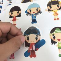 Quality Children Cartoon Sticker Label Die Cut With Laser Silver Stamping for sale