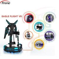Quality One Player Stand Up Flight VR Simulator Black With LED Lights For Supermarket for sale