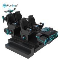 China Blue / Black 9D Virtual Reality Simulator Cinema Motion Car Games For Kids In Supermarket on sale