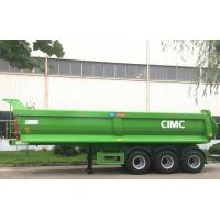 Quality CIMC 25 M³  Dump Truck Trailer U Silo Shape Pull Behind Dual Air Brake System for sale