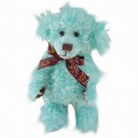 Quality Teddy Bear Plush Toy in Blue, Good for Children for sale