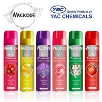 Quality Long Lasting Fragrance Dry Aerosol Air freshener Spray with Liac, Lily, Rose Smell for sale