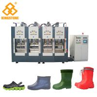 China Servo system Plastic Shoes Making Machine For EVA foaming Slipper Sandals shoes boots with 300-400 pairs/ hour on sale