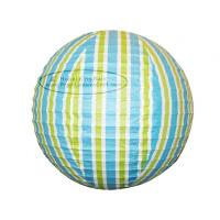 Quality Colorful Stripe Colorful Round Paper Lanterns With Metal Wire Material for sale