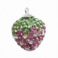 Quality Fashionable Pendant with Crystal Strawberry Charm for sale