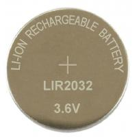 China lithium ion button cell batteries LIR2032 on sale