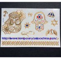 Quality 3D temporary tattoo gold&silver temporary tattoo for sale