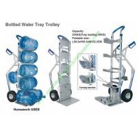 Buy Aluminum Bottled Water Tray Wire Shopping Trolley , Heavy Duty Foldable Hand at wholesale prices