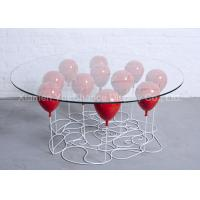 Quality Home Decoration Fiberglass Furniture Red Color Fiberglass Balloon Standing Table for sale