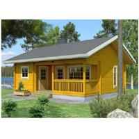 Quality One Floor Outdoor Wooden House Chalet With 36mm 72mm 110mm Wall for sale