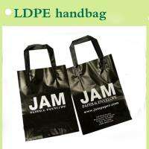 Quality PE handbag black reusable for shopping for sale