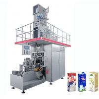 Quality High Speed Beverage Packaging Machine , Aseptic Brick Carton Juice Filling Machine for sale