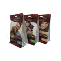 Quality Quad Sealed Pet Food Bags Flat Bottom Pouch With Handle , Matt / Glossy Printing for sale