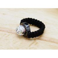 Quality Crystal Wedding Rings For Men  , Shamballa Beaded Ring  Customized for sale