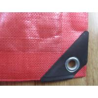 Quality 195gsm-215gsm pe virgin tarpaulin red color ,truck cover coal cover for sale