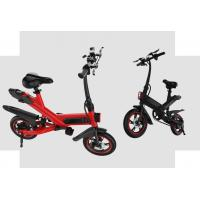 Quality White / Black / Red Fold Up Electric Bike , Electric Mini Bike For Adults for sale