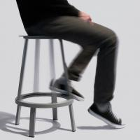 Quality Revolver Bar Stool Modern Bar Chairs Black Home Furniture For Model Houses for sale
