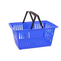 Quality Custom Plastic Wire Shopping Baskets With Handles Printed Logo for sale