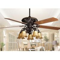 Quality Retro Ceiling Fan Light Fixtures , Home Decorative Rustic Ceiling Fans With Lights for sale