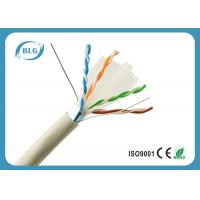 Quality OFC Gaming 1000 FT Ethernet Cable / 23AWG PVC FTP Cat6 Ethernet Cable Grey for sale