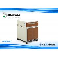 Brown Hospital Bedside Cabinet Match With Care Beds , 2 Inch Caster KJW-BC07