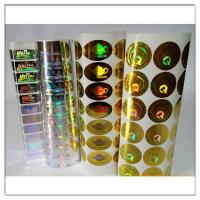 Quality Adhesive Holographic label / Holographic adhesive sticker,custom holographic label with own logo for sale