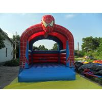 China Spider Man Commercial Bounce Houses fire retardant , Customized on sale