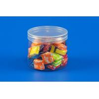 China Wholesale 310ml round plastic jar with transparent screw caps for sale on sale