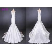 Quality Fish Tail Ladies Wedding Dress Long Tail Satin Lace Mermaid Style Wedding Dress for sale