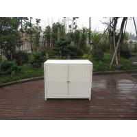 Quality Resin Wicker Storage Box , Aluminum Frame White Rattan Cabinet for sale
