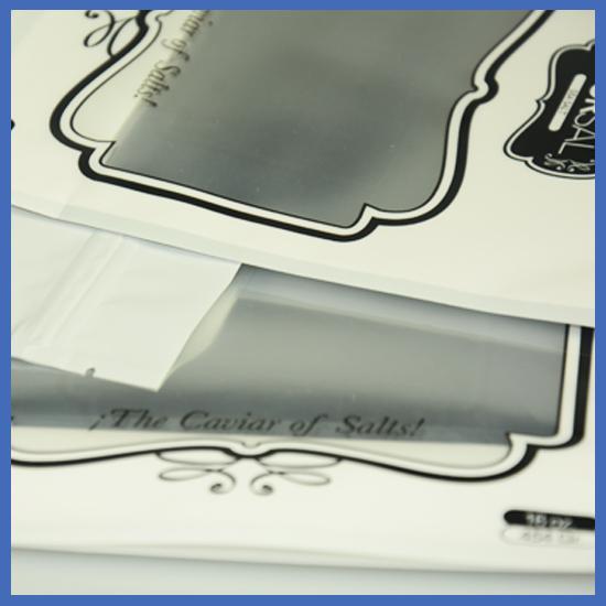 detail of zipper bag