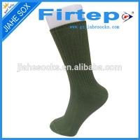 Quality army tube socks,military men solid color cotton socks for sale