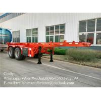 Quality 2 Axles Container Trailer Chassis Tank Container Chassis 20ft  Skeleton for sale
