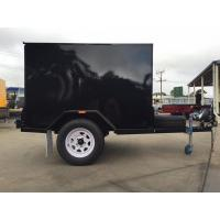Quality Single Axle 7 X 5 Enclosed Trailer Furniture Vans Trailer For Camper / Moving for sale